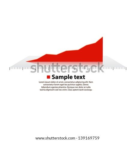 vector graph chart - stock vector