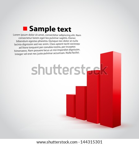 vector graph chart background - stock vector