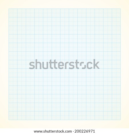 Vector graph grid paper background with variable thickness lines - stock vector