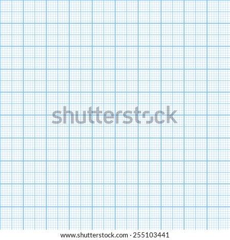 Vector graph millimeter paper seamless pattern - stock vector