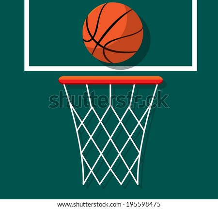 Vector graphic basketball. Basket and ball  - stock vector