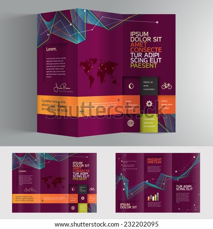 Vector graphic colorful professional business brochure design for your company - stock vector