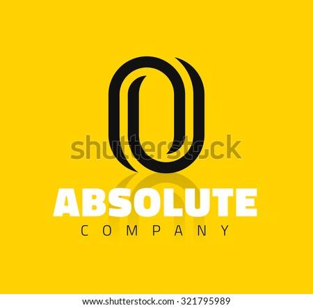 Vector graphic creative line alphabet symbol / Letter O - stock vector