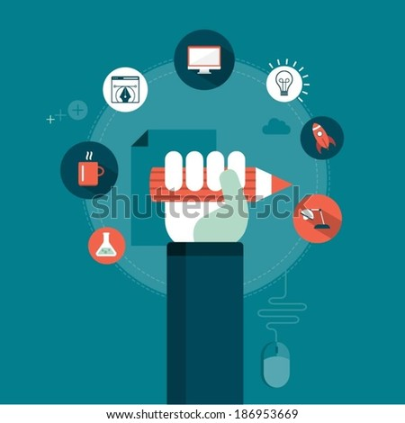 vector graphic design concept illustration - stock vector