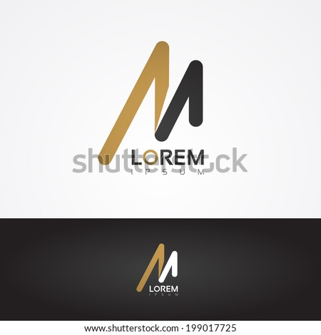 Vector graphic design element - M letter - stock vector