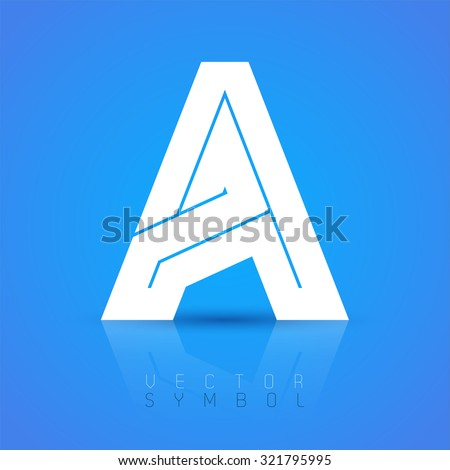 letter a text symbol font side stock images royalty free images amp vectors 18187