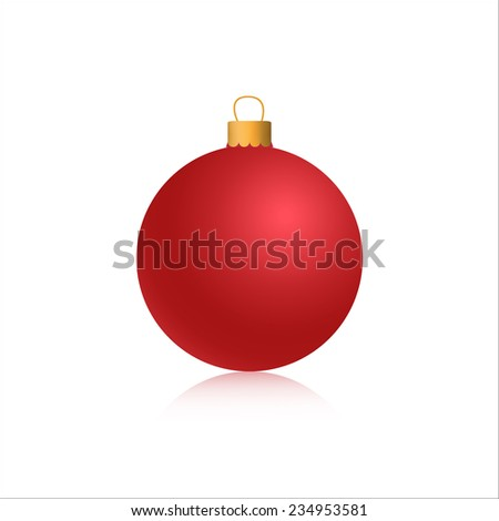 vector graphic illustration 3d red christmas ball