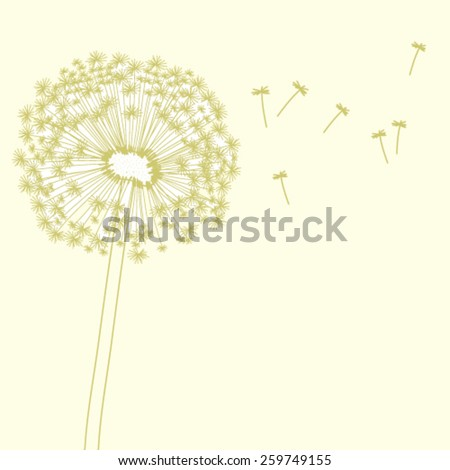 Vector graphic illustration with dandelion - stock vector