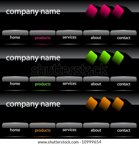 Vector graphic user interface - stock vector