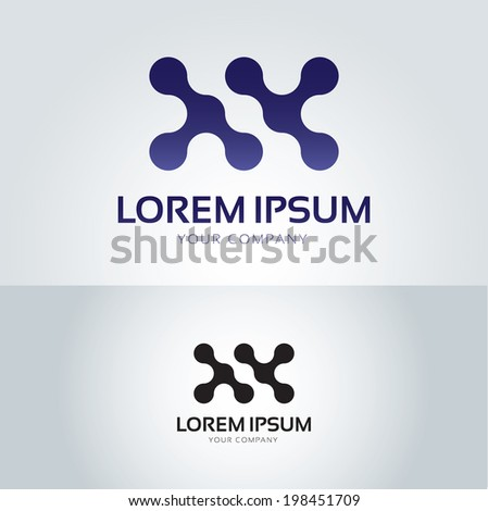 Vector graphic wavy graphic symbol for your company - stock vector