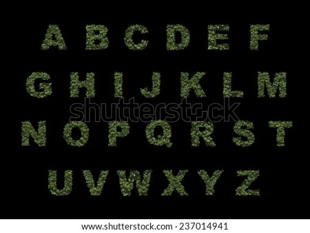 Vector grass font. - stock vector