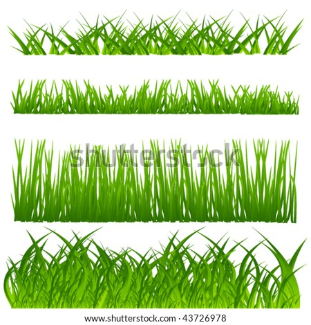 vector grass set - stock vector