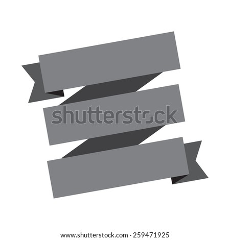 vector gray banners ribbons on a white background. - stock vector