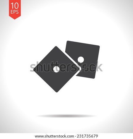 Vector gray flat isolate dice icon isolated on white. Eps10 - stock vector