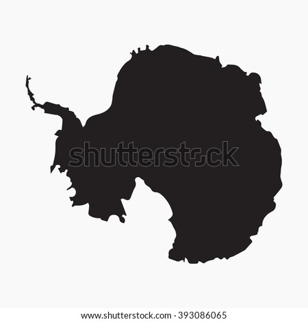 Vector gray map Antarctica. Isolated vector Illustration. Black on Grey background. EPS Illustration. - stock vector