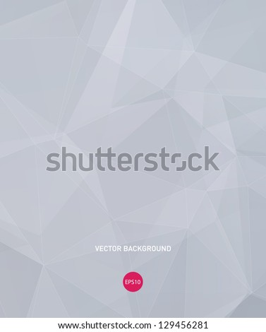 Vector gray modern geometric background - stock vector