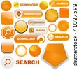 Vector great collection of orange elements for web - stock vector