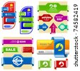 Vector great collection of sale elements. - stock photo