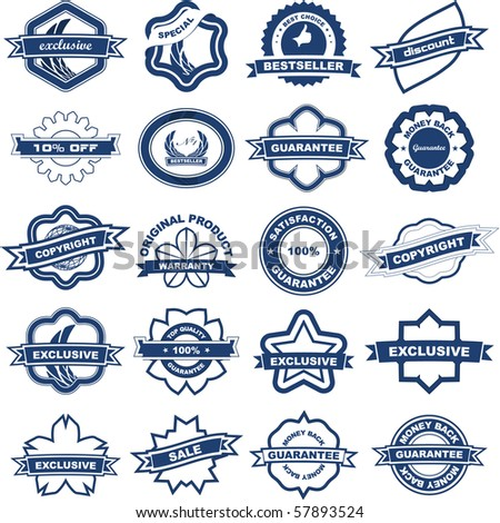Vector great collection of sale signs - stock vector