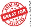 Vector great job stamp - stock photo