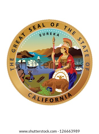 Vector Great Seal of the State of California - stock vector