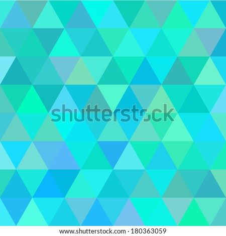 Vector green an blue triangle abstract backround