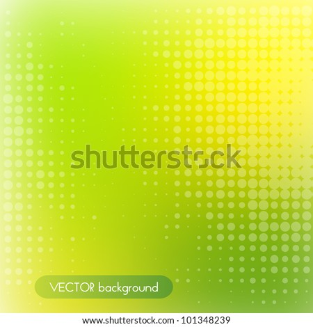 vector green and yellow background - stock vector