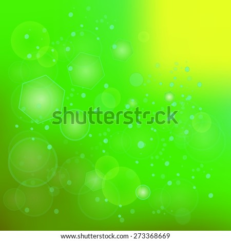 Vector Green Blurred Background. Useful for Your Design. - stock vector