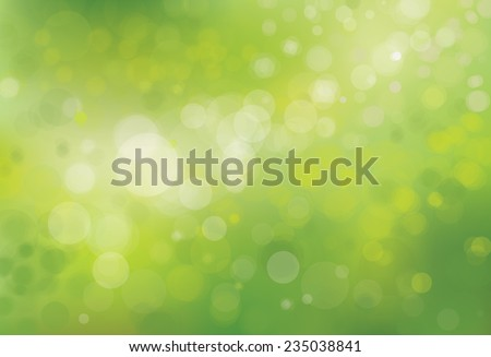 Vector green bokeh background. - stock vector
