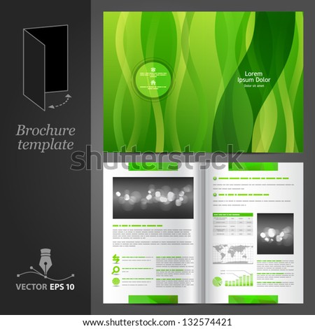 green brochure template - stock images royalty free images vectors shutterstock