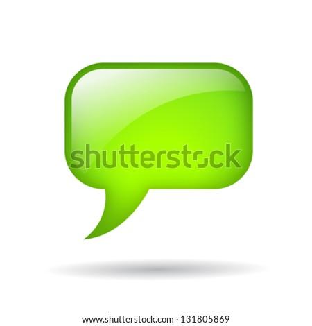 Vector green bubble - stock vector