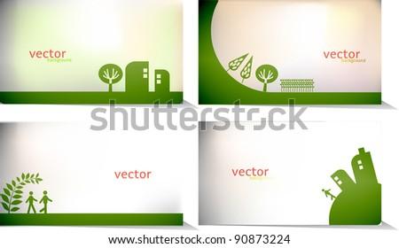 vector - green card background - stock vector