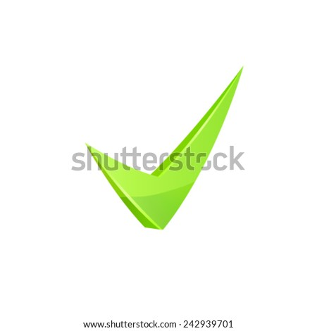 Vector green check mark. - stock vector
