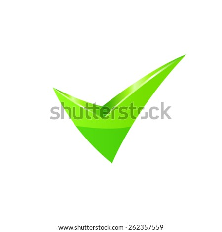 Vector green check mark - stock vector