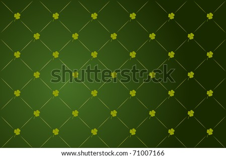 Vector green clover background for St. Patricks Day - stock vector