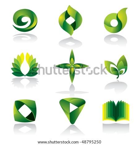 Vector Green Color Icon - stock vector