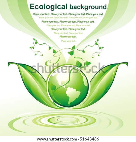 Vector Green Earth. ECO background.