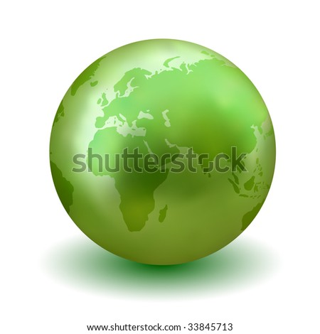 Vector Green Earth Globe - Check My Portfolio for More Like This. - stock vector