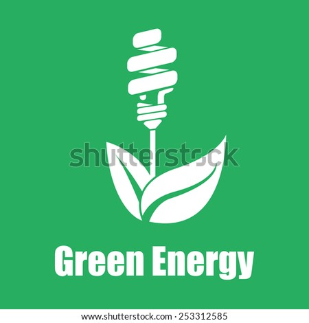 Vector green energy saving. Technologies of the future. Flat color eps10