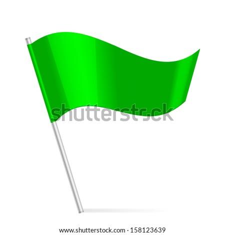 Vector green flag - stock vector