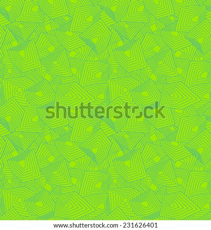 Vector green geometric pattern - stock vector