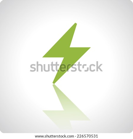 Vector green icons with reflection for mobile devices and applications - stock vector