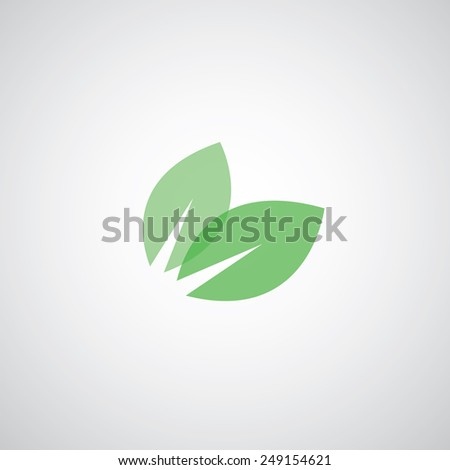 vector green leaves eco friendly  - stock vector