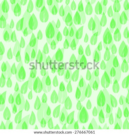Vector Green Leaves Pattern Isolated on White Background. - stock vector
