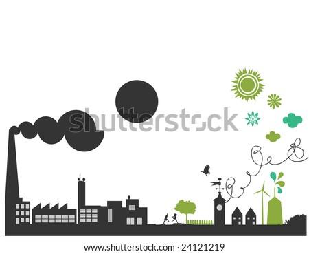 vector - green planet - stock vector