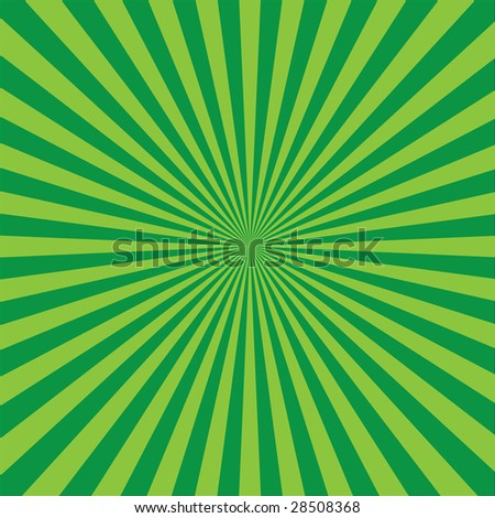 vector green retro burst abstract background