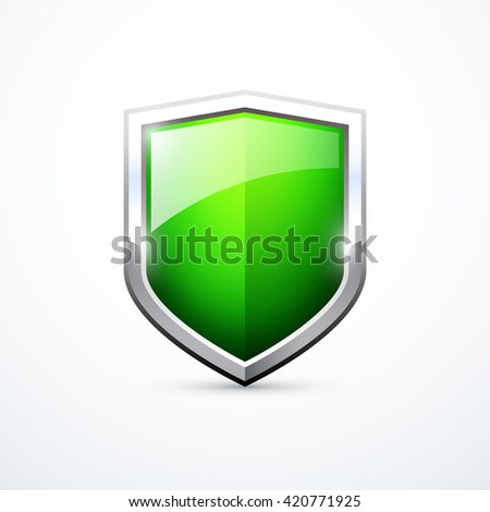Vector green shield