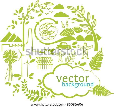 vector green world - stock vector