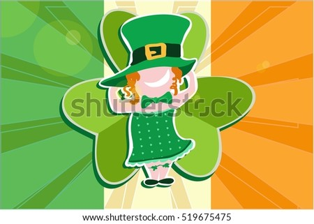 Vector greeting card for St. Patrick's day