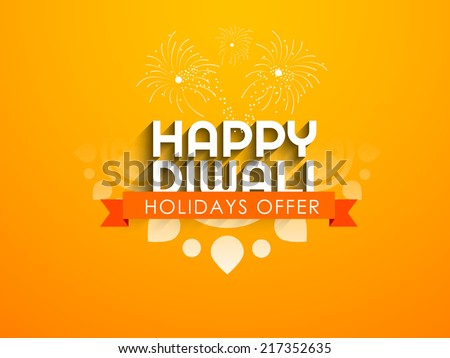 Vector greeting card or background, flyer,brochure, magazine cover for Diwali festival can be used for print and publishing. - stock vector